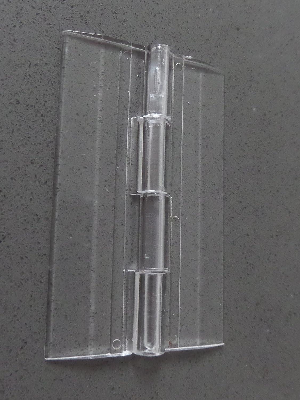 2 x Bisagra bisagras continua de pl/ástico transparente clara acr/ílica de 45mm para piano