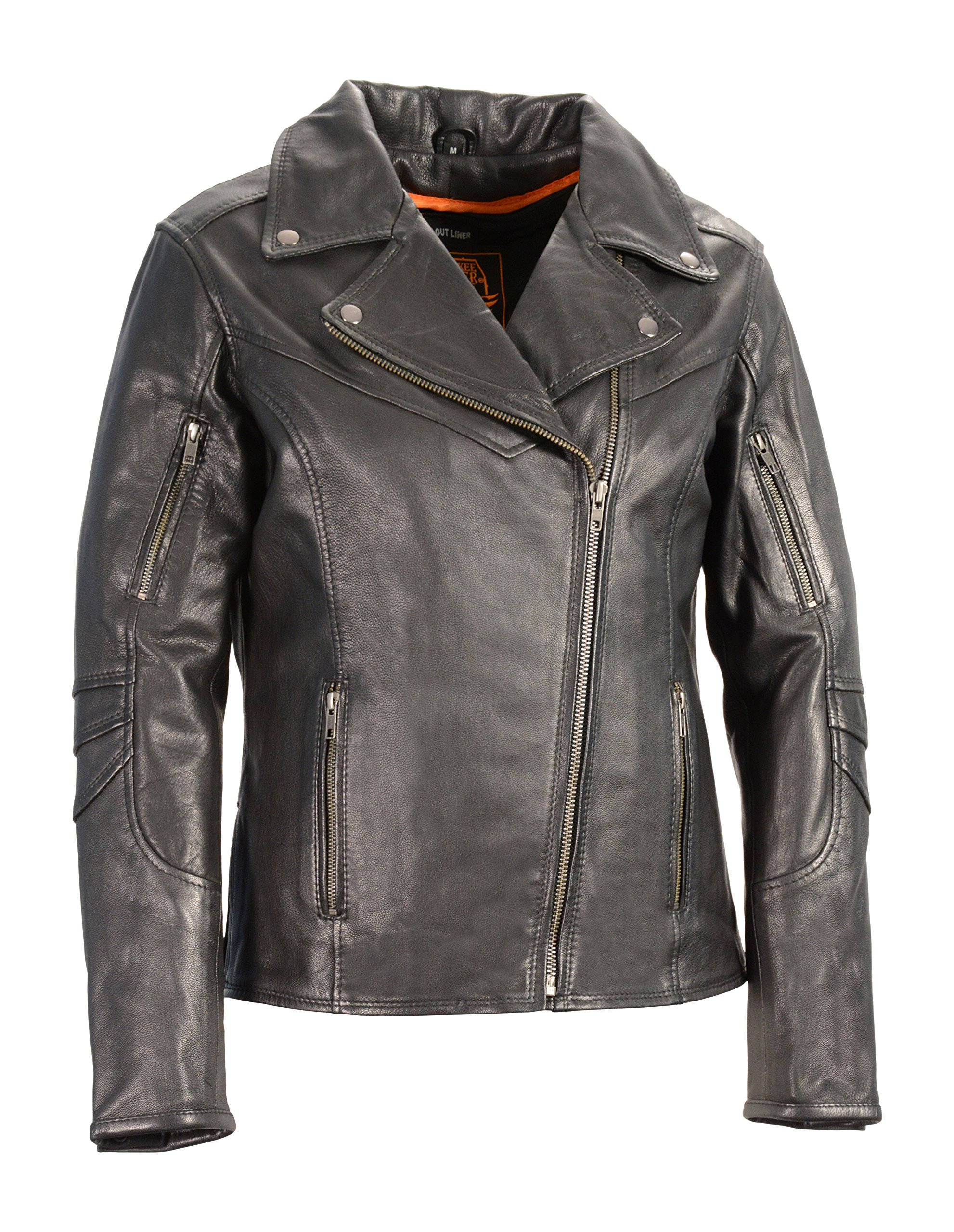 Milwaukee Leather Women's Vented Motorcycle Jacket (Black, XXX-Large)