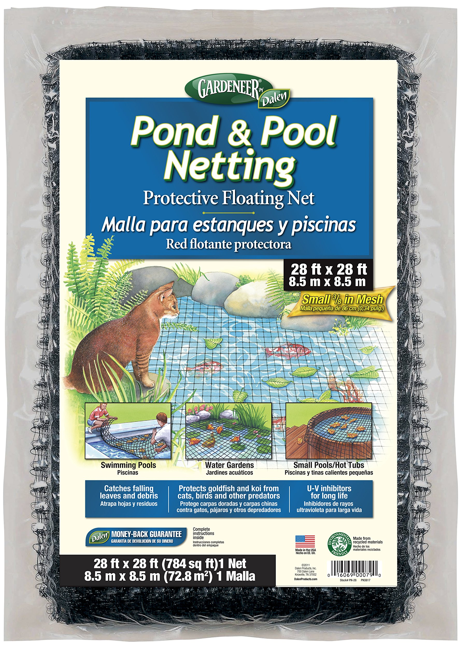 Dalen PN-28 PN28 Pond Netting 28' by 28' 3/8'' Mesh, 28'X28'