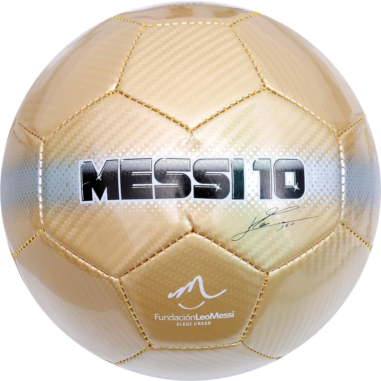 Baden Balón de fútbol con diseño de Messi 10, Colores Dorado ...