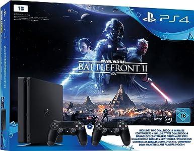 Sony Playstation 4 Slim 1TB Incl. Star Wars Battlefront 2: Amazon ...