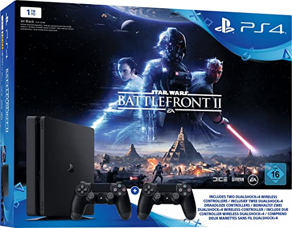 Sony Playstation 4 Slim 1TB Incl. Star Wars Battlefront 2: Amazon.es: Electrónica