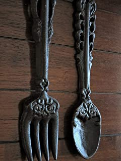 Large Silver Fork And Spoon Wall Decor from images-na.ssl-images-amazon.com