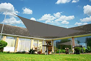 Kookaburra Waterproof Sun Sail Shade Canopy 4m x 3m Rectangle in Charcoal & Kookaburra Waterproof Sun Sail Shade Canopy 4m x 3m Rectangle in ...