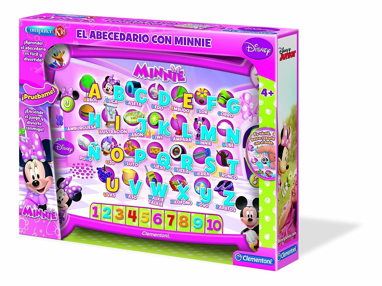 La Casa de Mickey Mouse - Primer abecedario de Minnie (Clementoni 65552): Amazon.es: Juguetes y juegos