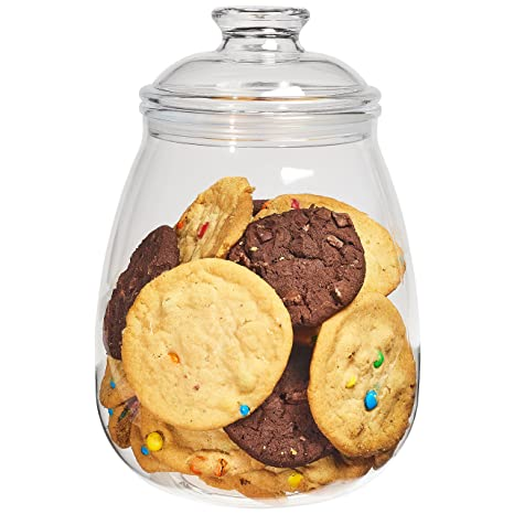 Airtight Cookie Jar Inspiration Amazon Cookie Jar With Lid Airtight Clear Plastic Eggplant