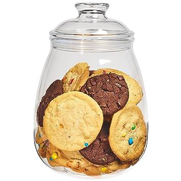 plastic cookie jars  Amazon.com: Cookie Jar with Lid, Airtight Clear Plastic Eggplant ...