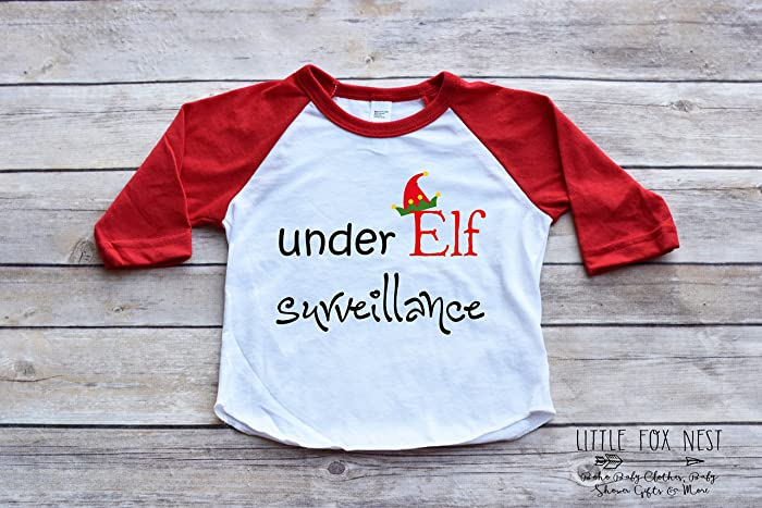ff3ca13f8 Amazon.com: Christmas Shirt, Christmas Raglan, Toddler Christmas Shirt,  Funny Christmas Shirt, Elf Shirt: Handmade