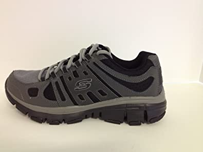 Amazon.com: Skechers Trail Sport Shoes Size 9 Black / Grey ...