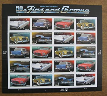 Amazon Com Us Stamps Fins And Chrome Classic Cars A