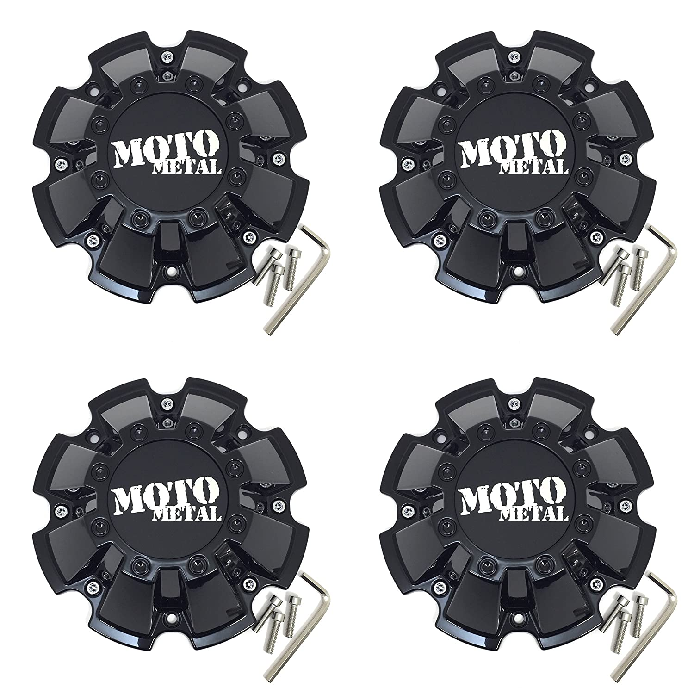 Set 4pcs 5 8 Lug for MO200 MO962 Rims Moto Metal Gloss Black Wheel Center Hub Cap 8