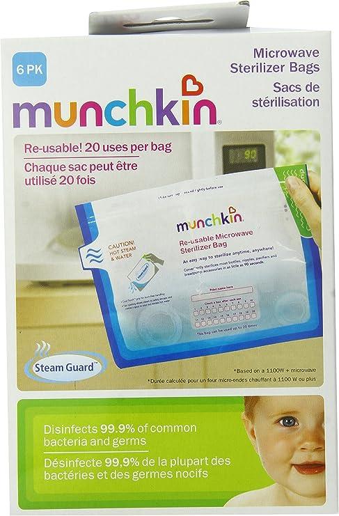 Munchkin, Bolsas de Microondas Esterilizador, 6 Bolsas: Amazon.es ...