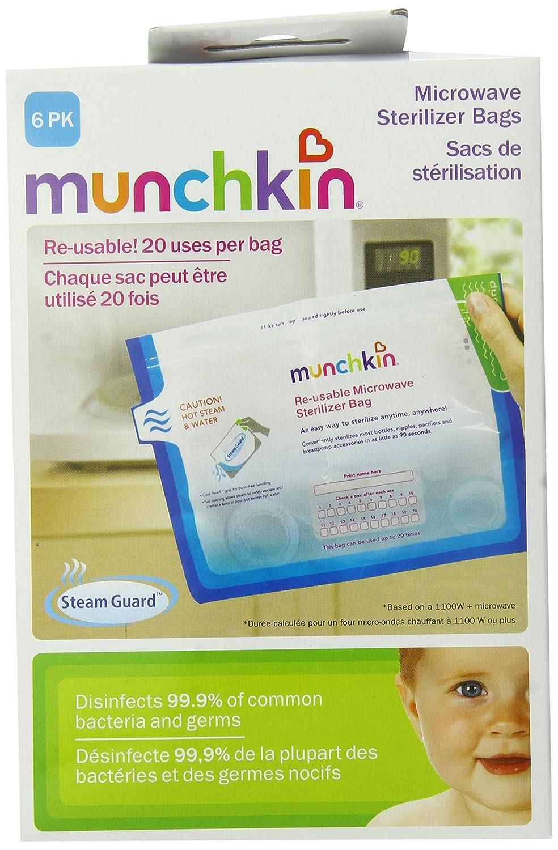 Munchkin, Bolsas de Microondas Esterilizador, 6 Bolsas ...