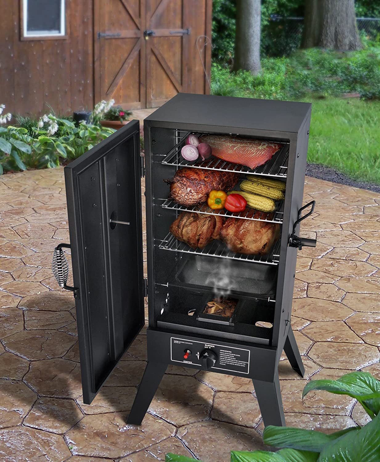 amazon com smoke hollow 30164g 30 inch propane gas smoker