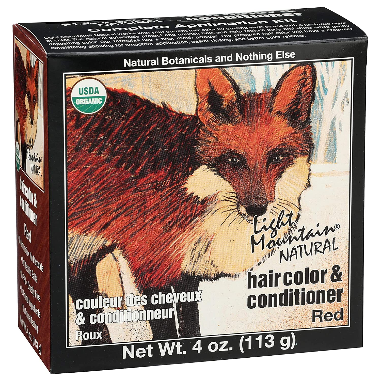 LIGHT MOUNTAIN Natural Hair Color 3 Piece - Red, 12 Ounce (187007)