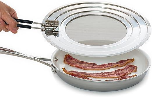Frying Pan Splash Guard,Oil Splatter Screen Blocker,Splashback,Splatter Guard for Frying Pan,Kitchen Safety Guard Cooking Pan Oil Splatter Shield