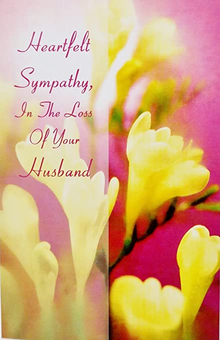 Amazon heartfelt sympathy in the loss of your husband greeting heartfelt sympathy in the loss of your husband greeting card rip death funeral m4hsunfo