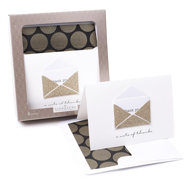 Amazon Hallmark Signature Thank You Notes Gold Envelope 8