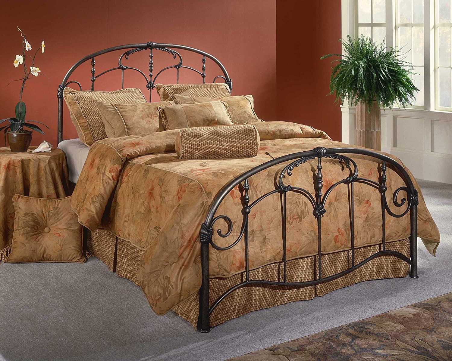 Amazon.com: Hillsdale Furniture 1293BFR Jacqueline Bed Set With Rails,  Full, Old Brushed Pewter: Kitchen U0026 Dining