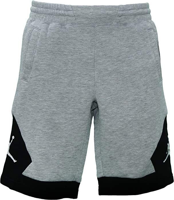 3e8a413b940043 Amazon.com  Nike Jordan Bys Varsity FLC Short Sweat Pants - Grey ...