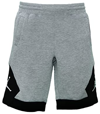 7910e7b61125a2 Amazon.com  Nike Jordan Bys Varsity FLC Short Sweat Pants - Grey (X-Large)   Clothing
