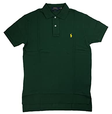 Ralph Lauren Mens Classic-Fit Mesh Polo Shirt Pony Logo (Small, Green) at  Amazon Men\u0027s Clothing store: