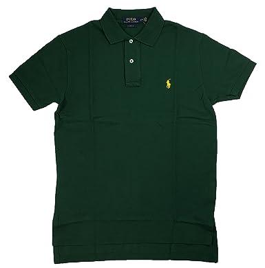 Ralph Lauren Mens Classic-Fit Mesh Polo Shirt Pony Logo (Small, Green) at  Amazon Men\u0027s Clothing store: