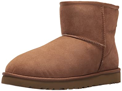 UGG Men's Classic Mini Winter Boot, Chestnut, ...