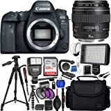 Canon EOS 6D Mark II DSLR Camera with Canon 85mm f/1.8 EF USM Autofocus Lens and SanDisk 128GB Ultra UHS-I Class 10 SDXC Memory Card + 72 Full-Size Tripod + More (International Version No Warranty)