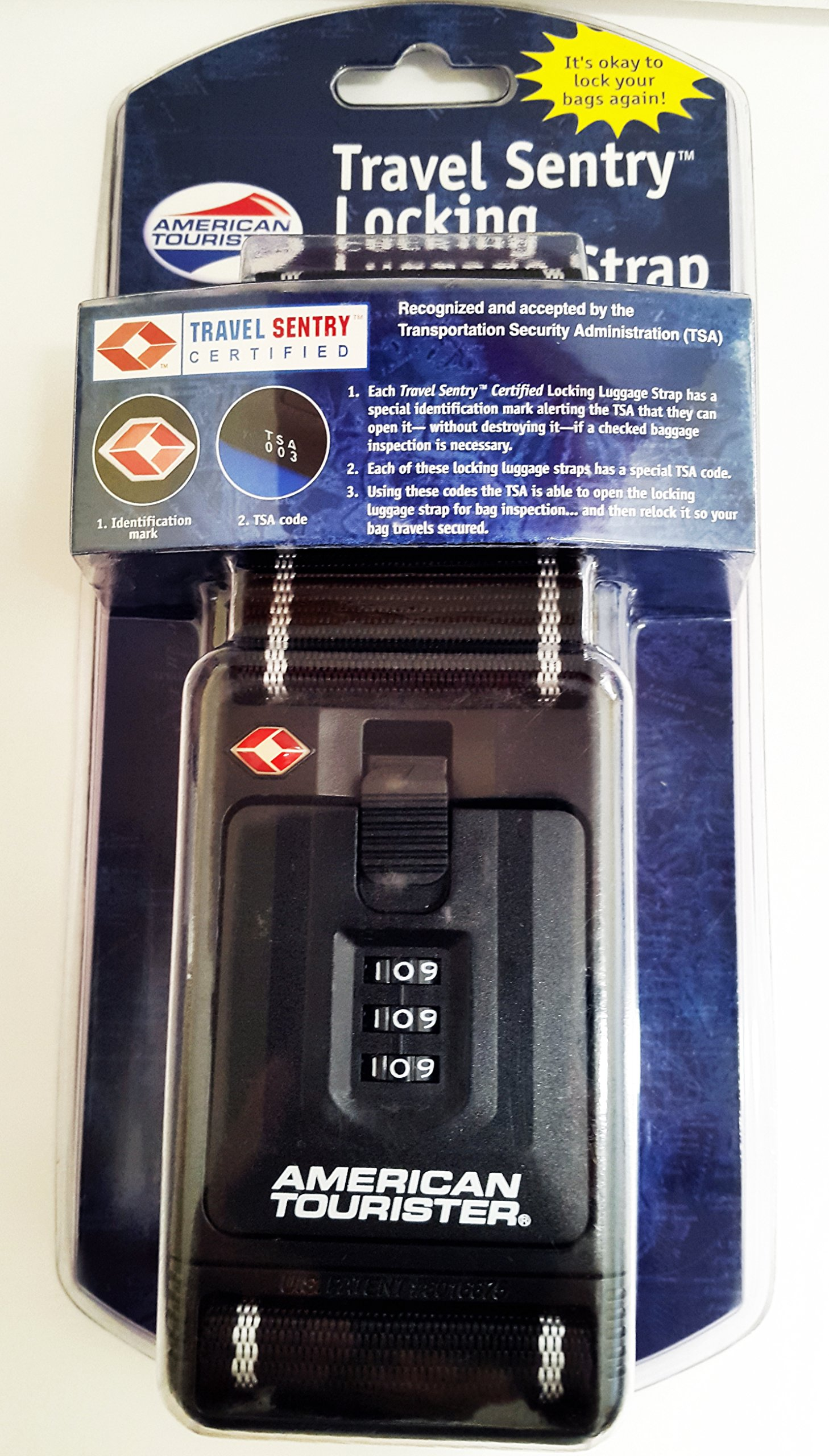 Travel Sentry Locking Luggage Strap with TSA Code