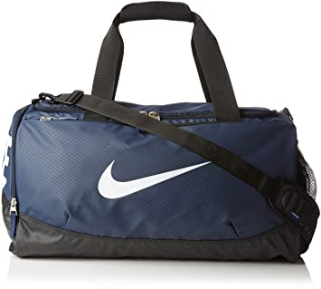 a5cada348130 Nike Men s Team Training Max Air Duffel Bag - Midnight Navy Black White