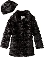 Widgeon Big Girls' Sequin Sparkle Coat with Hat