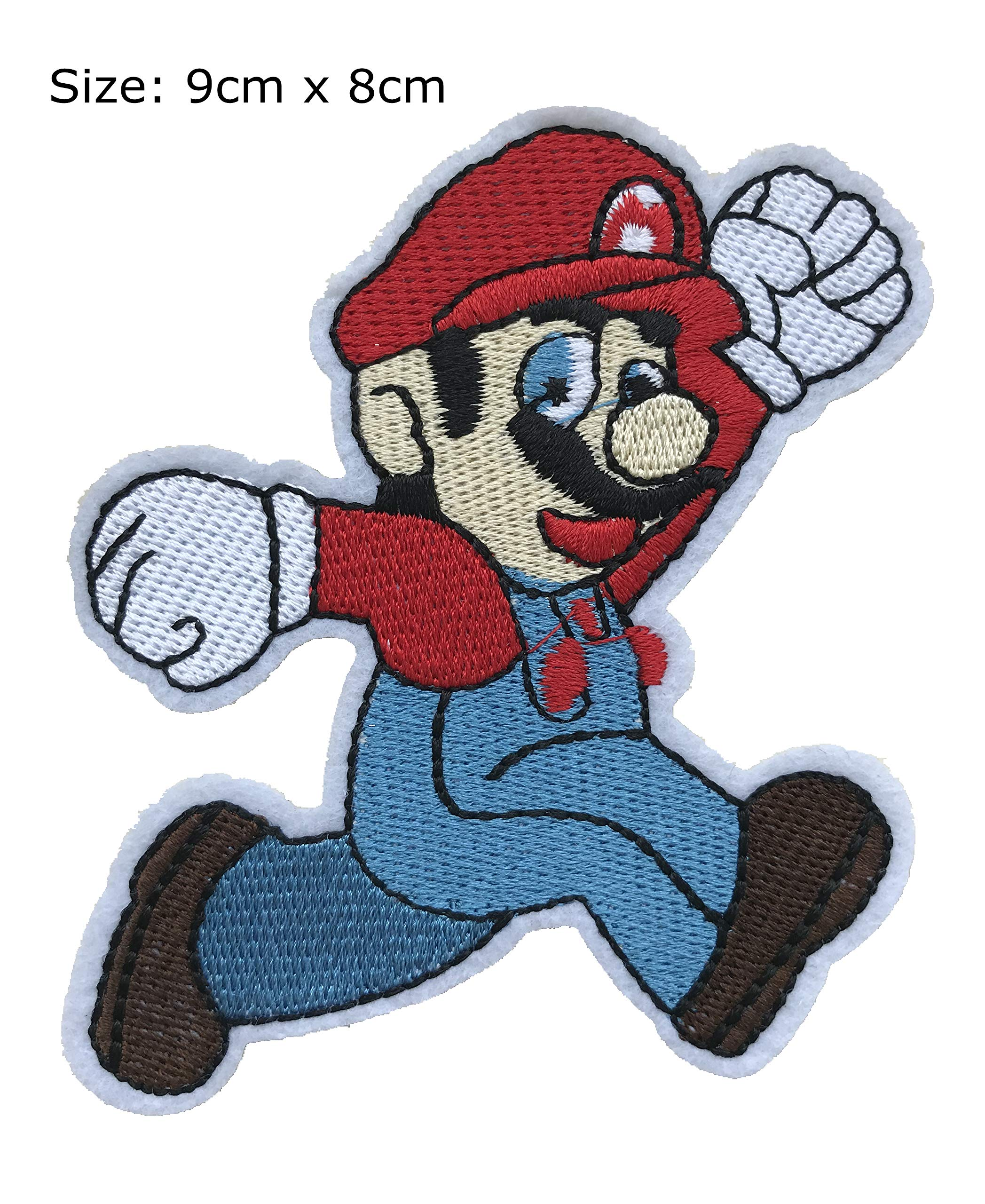 Super Mario Big Bullet Cosplay Gaming Iron On Patch