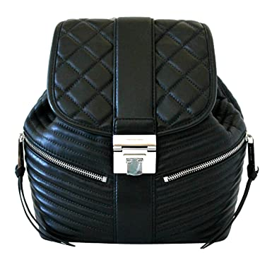 4ab6dba3ba47fb MICHAEL Michael Kors ELISA Womens SMALL Black LEATHER Backpack Daypacks ...