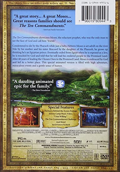 Amazon.com: The Ten Commandments: Elliott Gould, Christian Slater ...
