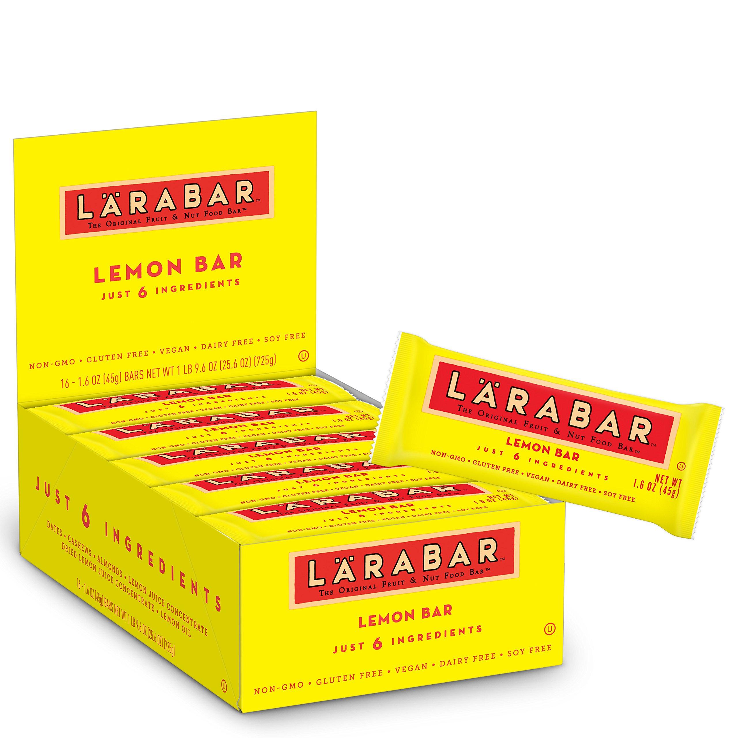 Larabar Gluten Free Bar, Lemon, 1.6 oz Bars (16 Count)