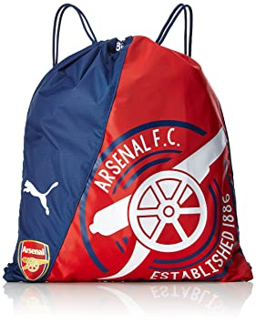 Arsenal Football Club Puma Red Gunner Gym Bag Team Crest Badge Official 03cb866e283f2