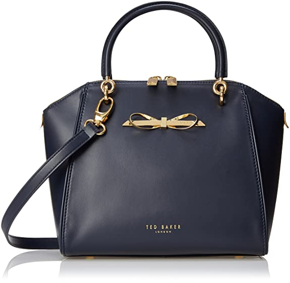 af3878382 Ted Baker Lailey Metal Slim Bow Leather SML Tote Top Handle Bag ...