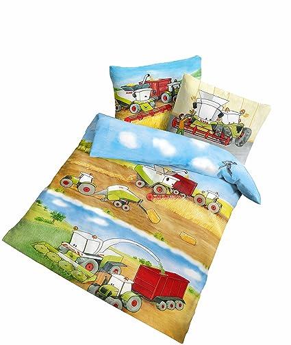 Träumschön Claas Traktor Baby Kinder Bettwäsche 100 X 135 Claas Mähdrescher Bettwäsche Für Alle Traktor Bettwäsche Fans Trecker Bettwäsche
