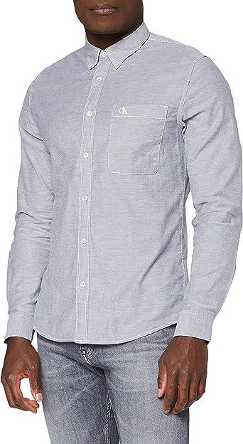 Calvin Klein Chambray Slim Stretch Camisa Hombre: Amazon.es ...