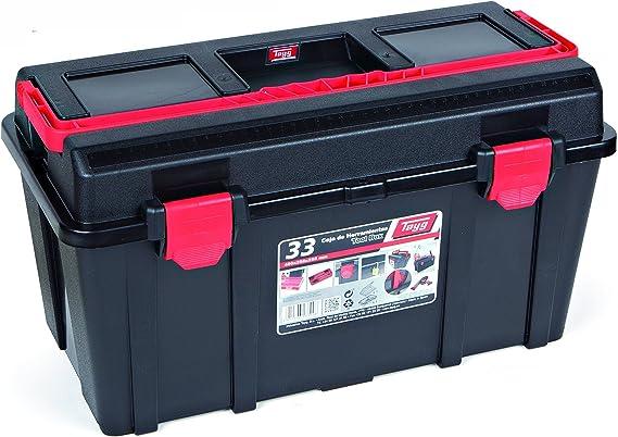 Tayg 133008 Caja Herramientas Plástico, Negro, 480 x 258 x 255 mm: Amazon.es: Bricolaje y herramientas
