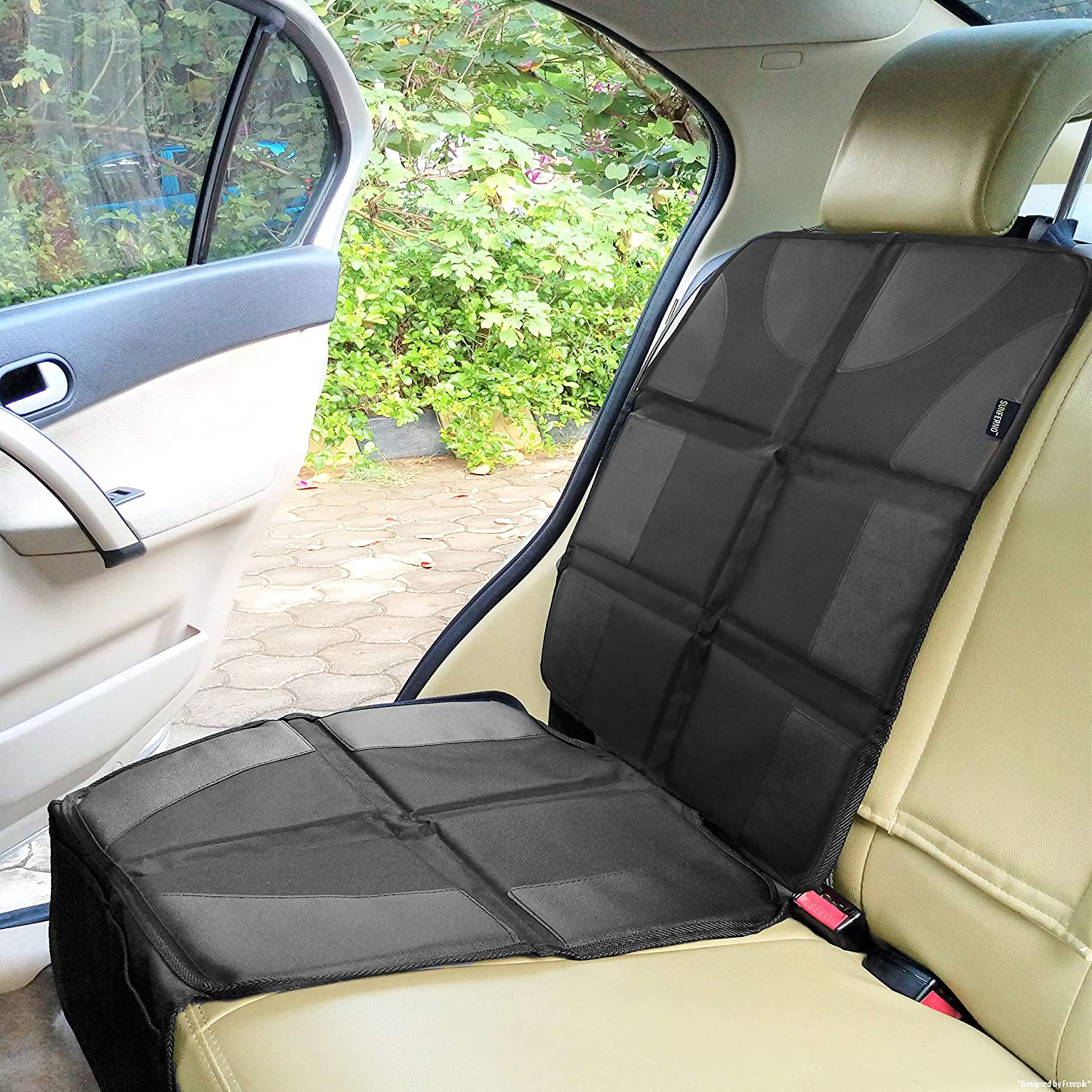 Children Seat Covers Protector Car Mat Cushion Protector Auto Chairs Protector Accessory Black Cars Seat Protector