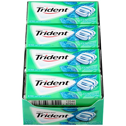 $8.48 Trident Sugar FREE gum,.