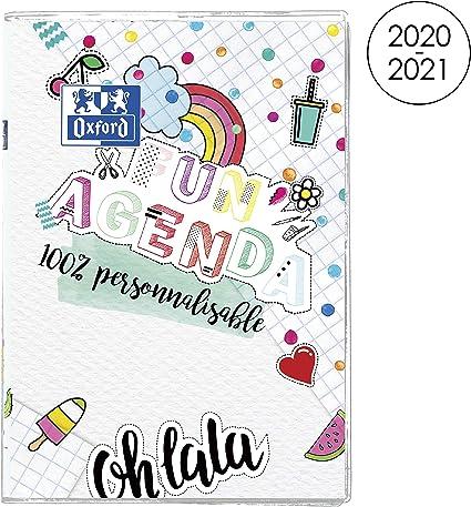 Calendrier 2021 Personnalisable OXFORD Agenda Scolaire Fun'Agenda 2020   2021 Format 12x18cm
