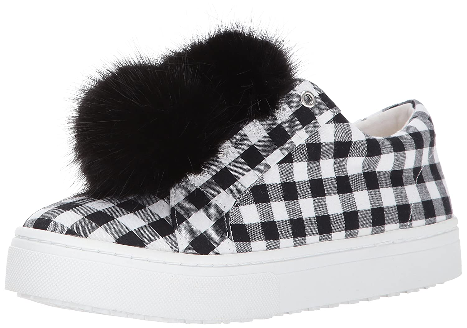 Sam Edelman Women's Leya Fashion Sneaker B06XC3K3CX 10 B(M) US|Black/White Gingham Print