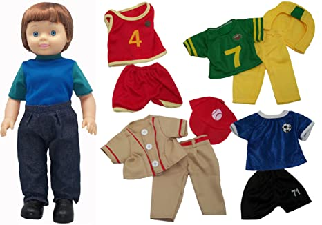 5f32c6fe3e02 Get Ready Kids Boy Doll With Sports Clothes Set  Amazon.in  Beauty
