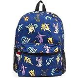 "FAB Starpoint Pokemon Evee Evolution 16"" Blue Backpack, Multicolor, Large"