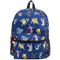 """Pokemon Evee Evolution 16"""" Blue Backpack"""