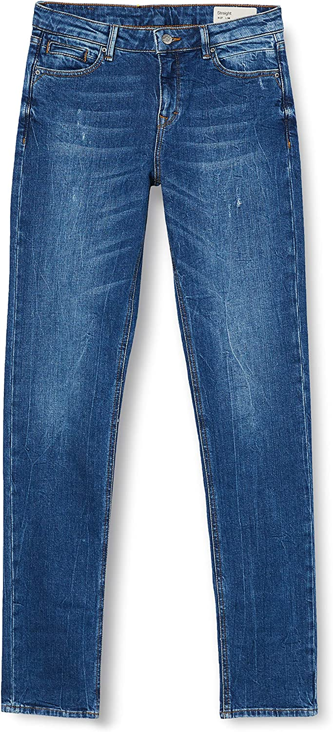 ESPRIT Damen Jeans 901/Blue Dark Wash