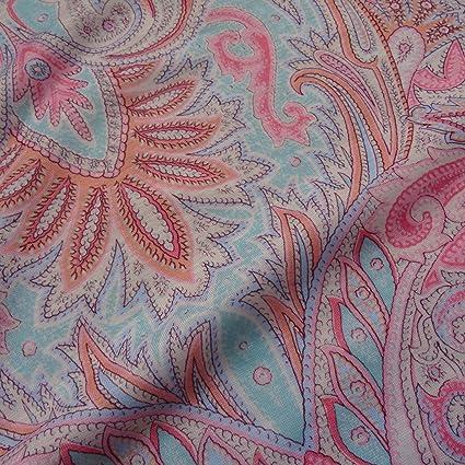 20351fc6eb3 Summer Pastel Fresh Viscose Jersey Fabric Material Craft Textile Art Stretch:  Amazon.co.uk: Kitchen & Home